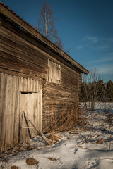 Old abandoned wooden barn