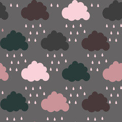 cute cloud. vector pattern. card for kids.