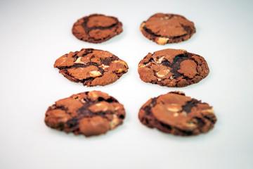 Czekoladowe ciasteczka - fototapety na wymiar