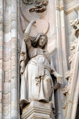 Deborah, statue on the Milan Cathedral, Duomo di Santa Maria Nascente, Milan, Lombardy, Italy