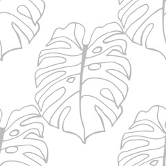 seamless floral pattern tropical palm leaves