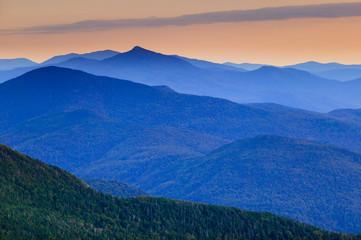 Distant mountain range