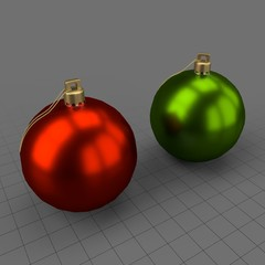 Round Christmas ornament set