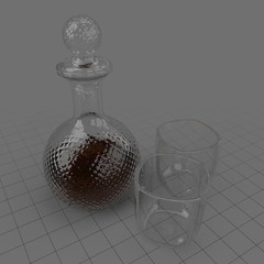 Decanter with glasses
