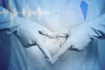 medicine love. hands heart