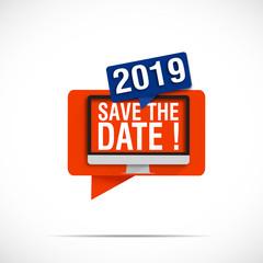 bulle écran : save the date 2019