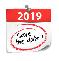 post it : Save the date 2019