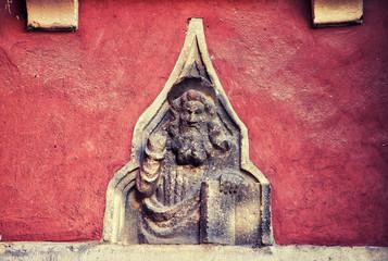 Old religious Christian orthodox stone icons. Croatia