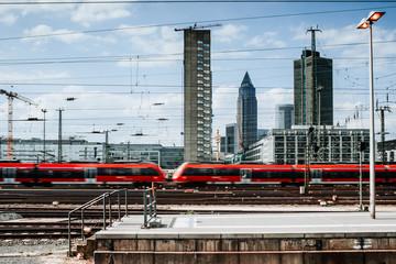 Züge am Frankfurter Bahnhof