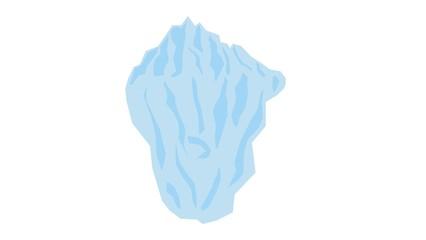 Iceberg - simple element on white background, keyable illustration in high resolution.