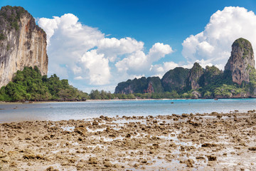 Popular travel tropical karst rocks perfect for climbing Railay