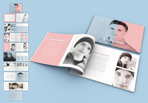 Pastel Blue and Pink Magazine Layout