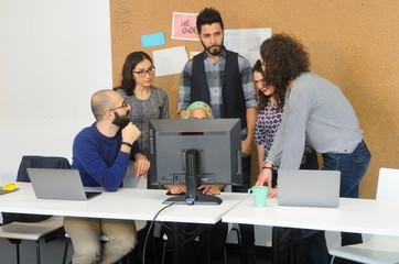 Gruppierung um den Rechner