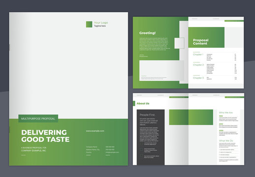 Green Gradient Proposal Layout