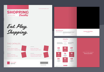 Pink Gradient Catalog Layout