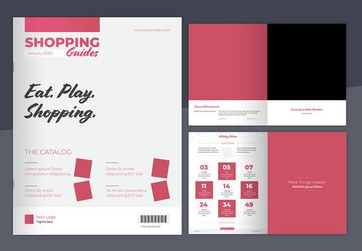 Pink Gradient Catalog Layout