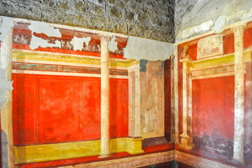 House of Augustus (Casa di Augusto) interiors on Palatine hill, Rome, Italy