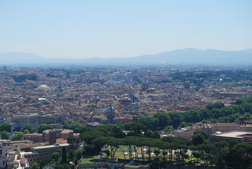 The Vatican and the city of Rome look from above.