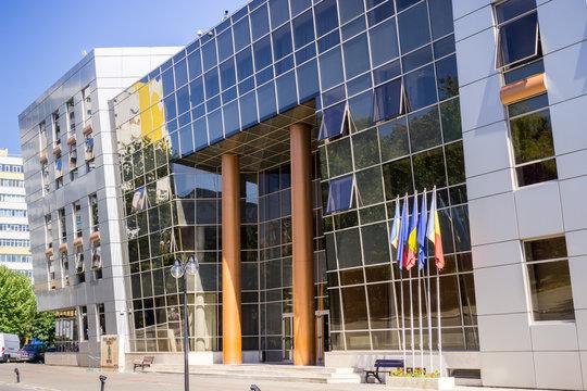 The District 2 City Hall building near Obor Market, Bucharest, Romania