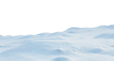 Wall Mural - snow isolated on white background