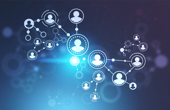 People network interface, blue flare