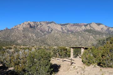 New Mexico Picnic Site under Sandia Mountains