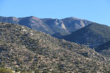 New Mexico Mountains as Snow Melts