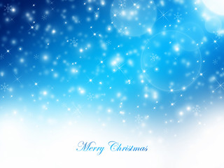 Christmas dark blue abstract background