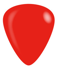 Red Isolated Guitar Plectrum