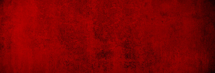 Weihnachtliche Betontextur in gleichmäßig warmem Rot als Hintergrund Banner in XXXL Wall mural