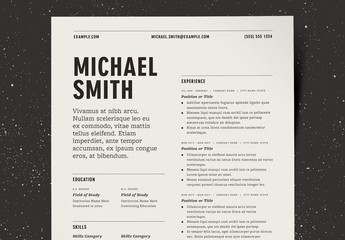 Two Column Resume  Layout Kit