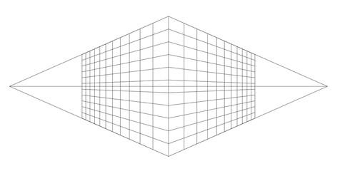 Fototapete - perspective grid vector