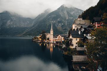 Lake Hallstatt in Bad Goisern, Austria