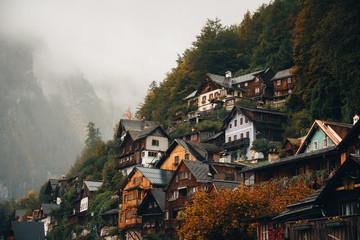 Houses in Hallstatt, Austria