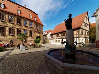 .Historisches Rathaus im Staatsbad Bad Kissingen, Unterfranken, Franken, Bayern, Deutschland.