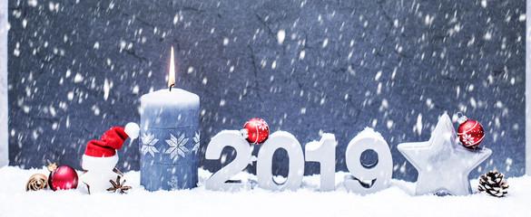 Weihnachskarte Silvesterkarte 2019 Hintergrund Grau Beton