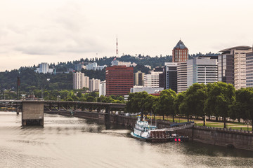 Portland Waterfront and the Wilamette River