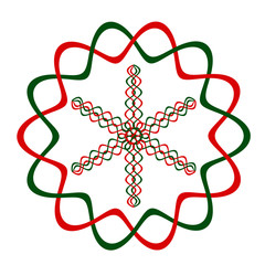 Christmas DNA snowflake