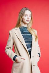 Elegant woman in coat