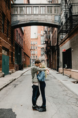 Sweet hipster couple in New York City