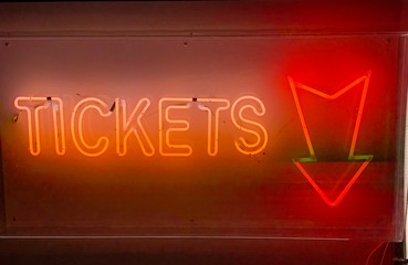 Tickets Neon Sign