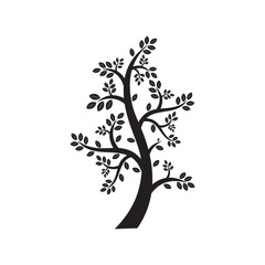 Vector Tree Simple Silhouette Symbol Nature Ecology Element