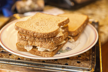 Whole Wheat Sandwiches, Chicken and Cheese, Whole Grain