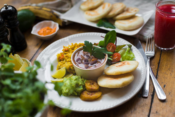 Vegan latin american breakfast