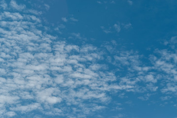 Beautiful white clouds with blue sky. for background or wallpaper.