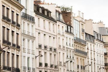 Line of apartment buildings in Paris