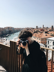 A photographer in Venice
