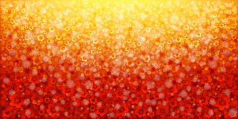 Red abstract floral background