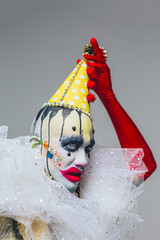 Bizarre Party Clown Portrait