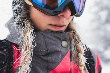 Portrait of Beautiful Woman Skier